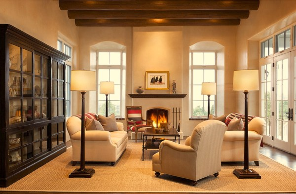 comfortable southwestern living room by Violante & Rochford Interiors, photo credit © Wendy McEahern