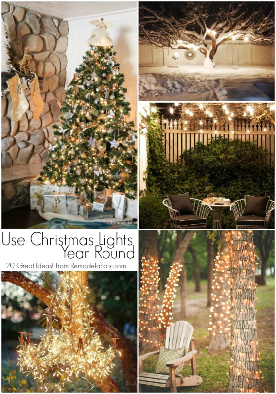 20 great uses for Christmas Lights year round @remodelaholic