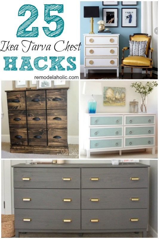 Give a plain jane IKEA dresser a whole new look with these great ideas for TARVA chest hacks. Flat pack just needs a little love to look amazing!