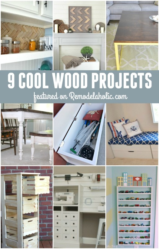 9 Cool Wood Projects @Remodelaholic