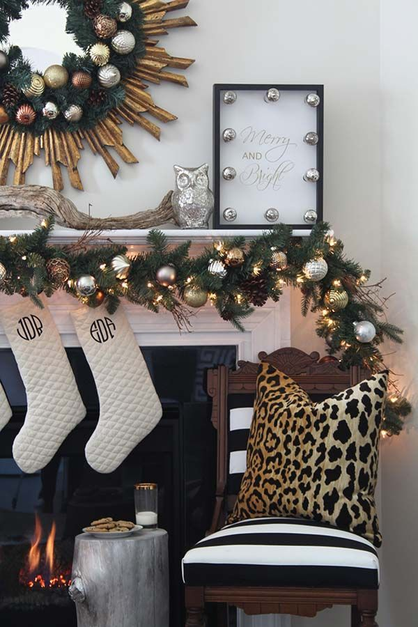Remodelaholic A Black White And Gold Christmas