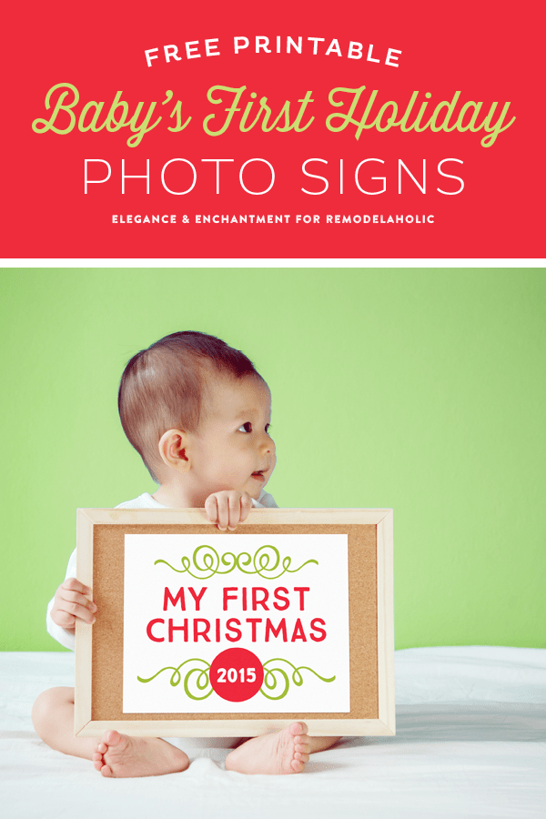 picture regarding Free Printable Christmas Signs named Remodelaholic No cost Printable Babys Initial Getaway Signs or symptoms
