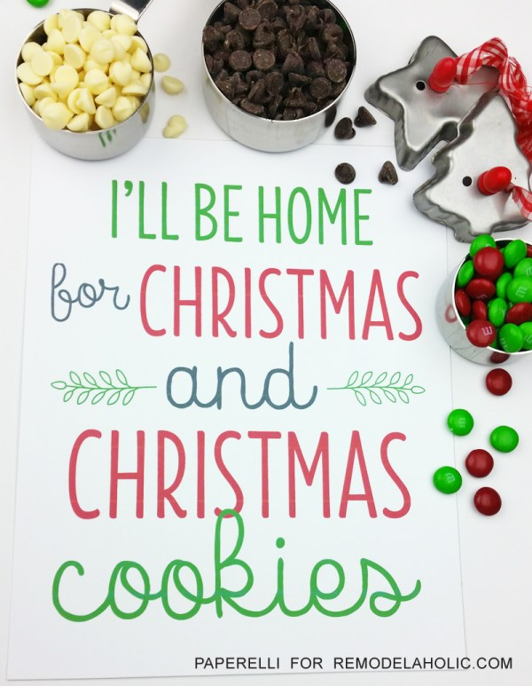 Perfect for our holiday cookie exchange party! Free printable.