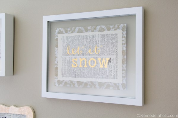 Let It Snow DIY gold foil print + tutorial