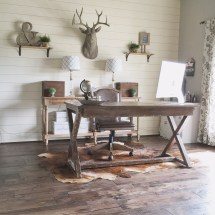 Rustic Modern Home Office Design