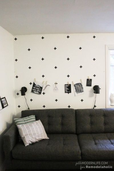 DIY swedish cross wall