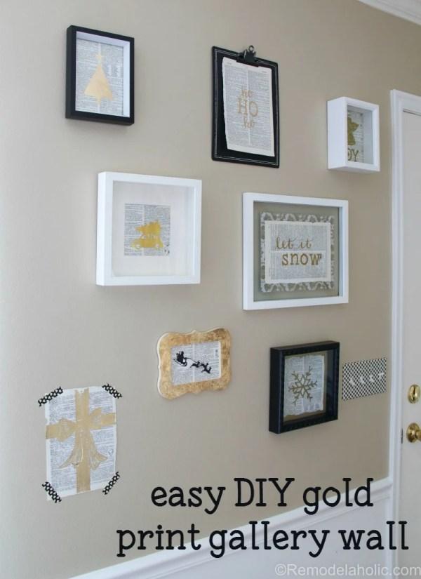 4 Easy Diy Gold Prints Christmas