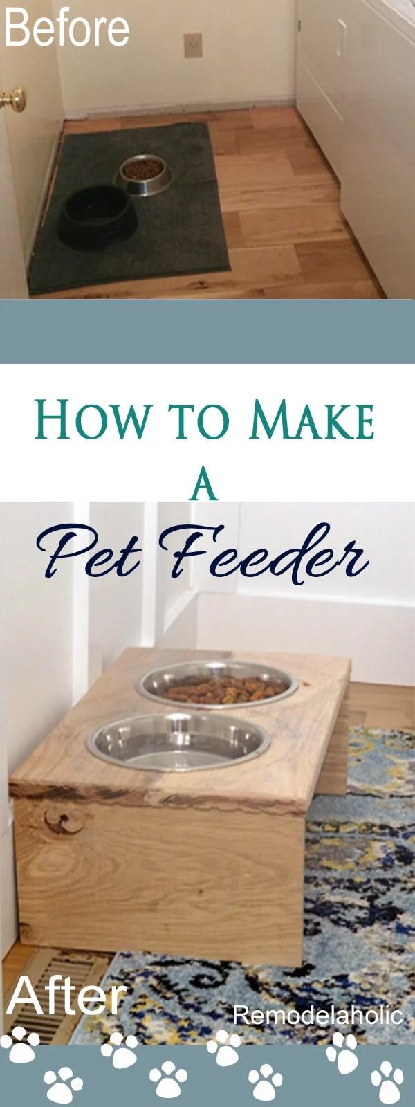 How to Make a DIY Pet Feeder