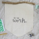 Lemon Thistle DIY Hand Lettered Rustic Wall Hanging with free printable template