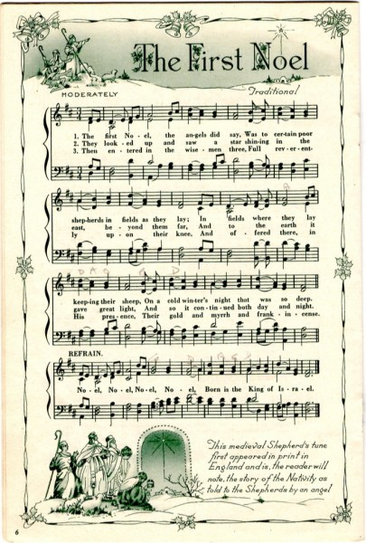 Modest image inside christmas carols sheet music free printable