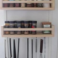 Wall Mounted Kitchen Utensil Holder Moen Remodelaholic | 25 Ways To Use Ikea Bekvam Spice Racks At Home