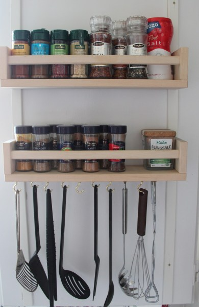 ikea kitchen utensils storage remodelaholic 25 ways to use ikea bekvam spice racks at home 4573