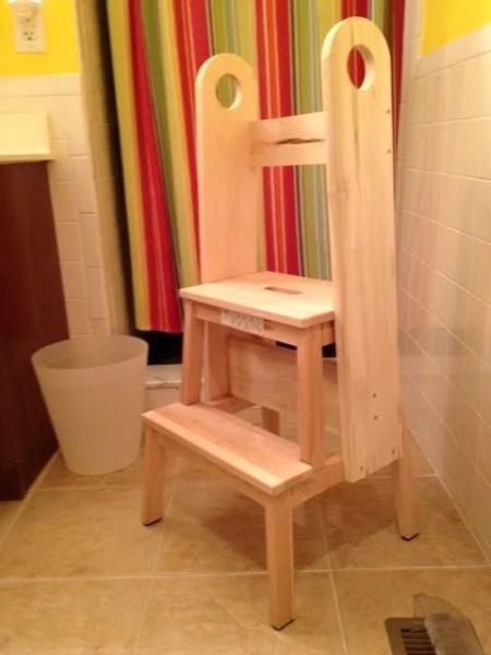 bekvam stool hack, safe stool toddler bathroom