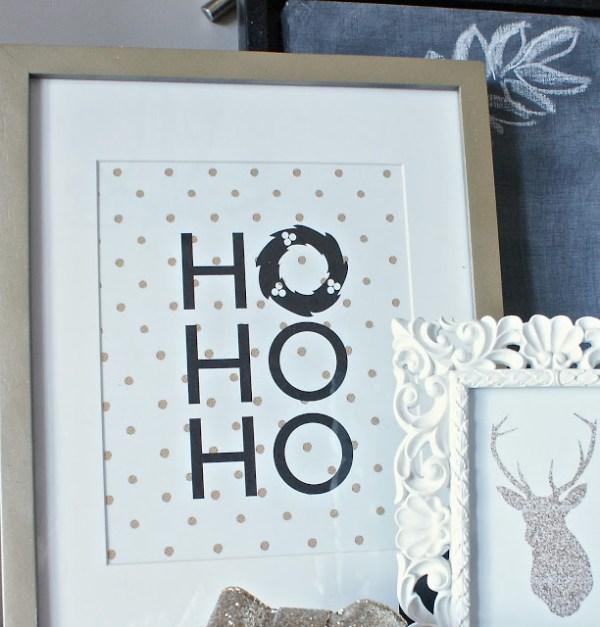black and gold Christmas art print The Social Home