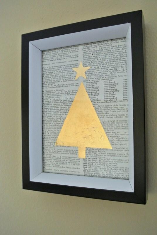 Easy DIY gold leaf print! Tutorial on Remodelaholic.com