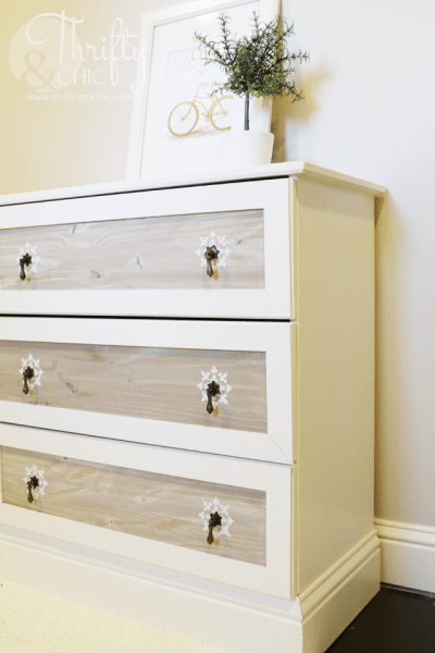 ikea tarva 3-drawer chest hack moulding pulls stencil