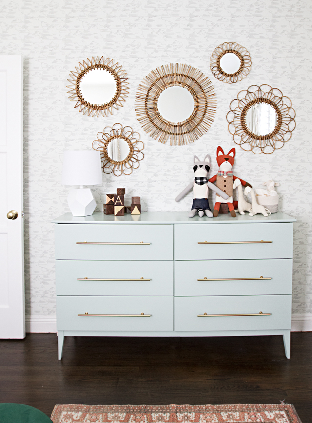 Painted Green Sideboard
