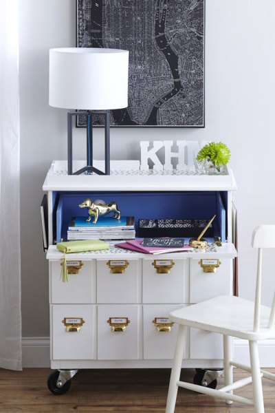 ikea tarva three-drawer chest hack desk