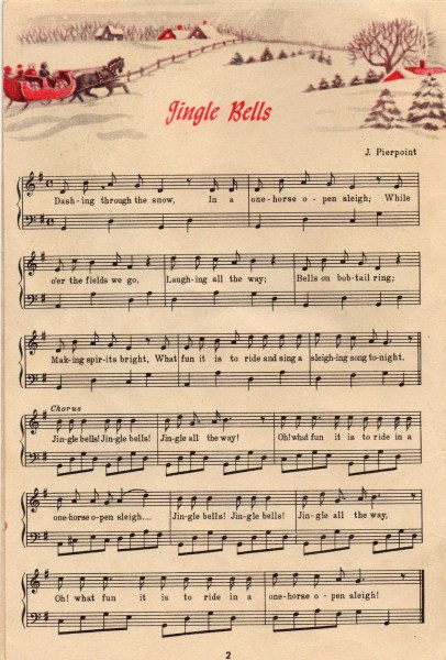 Adaptable image inside christmas carols sheet music free printable