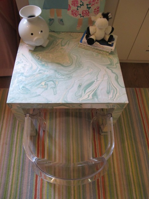 lack side table hack marbled paper