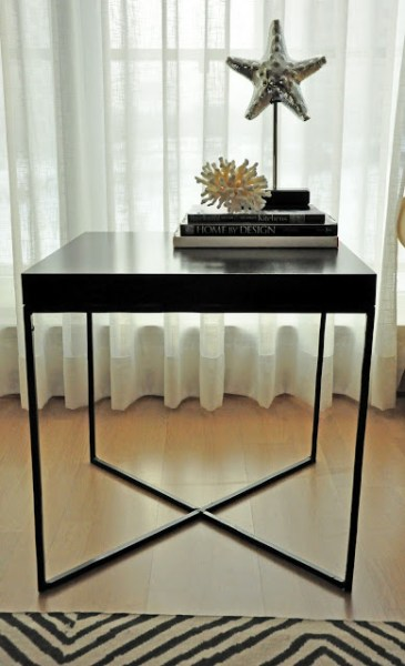 lack side table hack welded metal frame