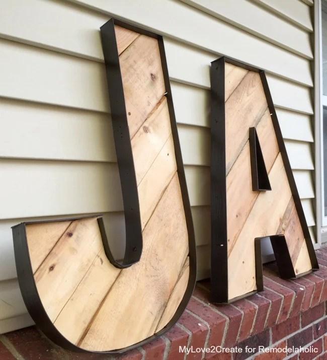 large rustic industrial letters DIY tutorial