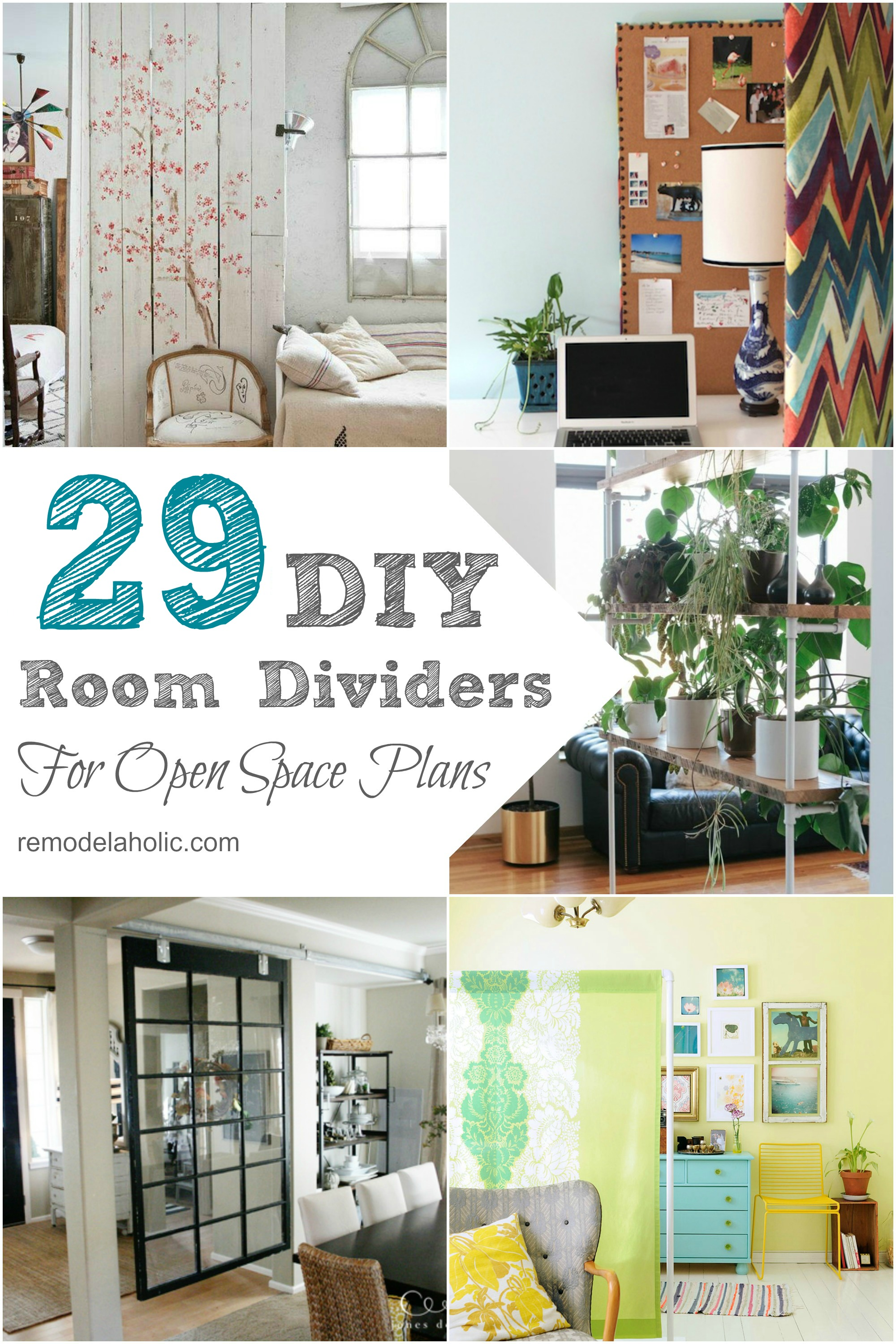 Remodelaholic 29 Creative DIY Room Dividers For Open Space Plans
