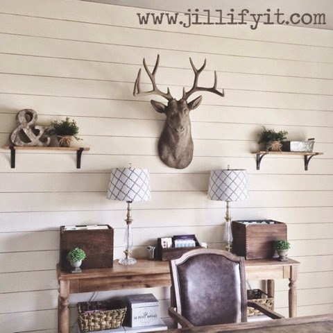 rustic home office makeover, Jillify It on @Remodelaholic