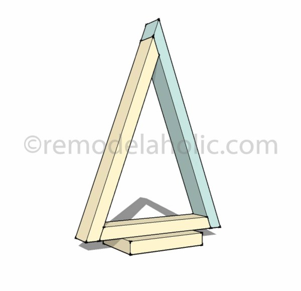 step 4 Christmas Decor Triangle Tree