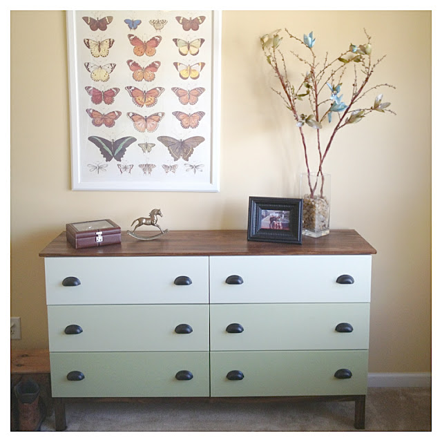 Tarva 6 Drawer Chest Hack Ombre Green Drawers