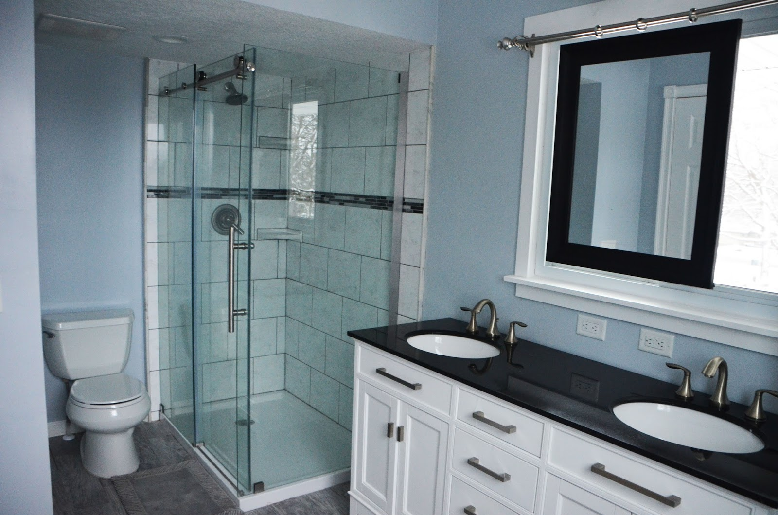 Bathroom Renovation With Sliding Mirror Over Window, By Since I Became A  Mom Featured On