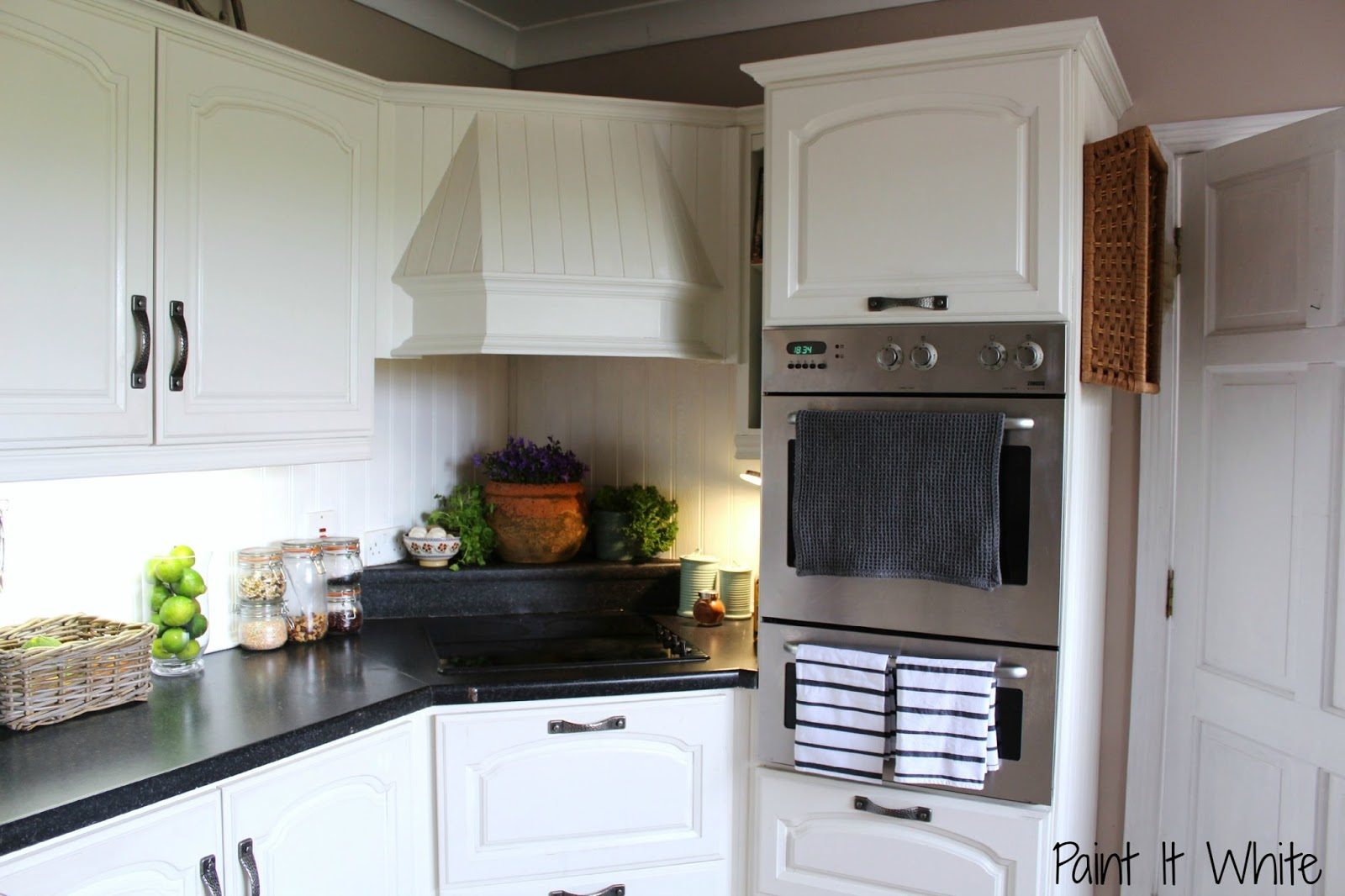 Chalk Paint For Kitchen Cabinets. 14 Annie Sloan chalk paint in Old White wood kitchen cabinet update  Rustic accents for Remodelaholic Beautiful Kitchen Update with