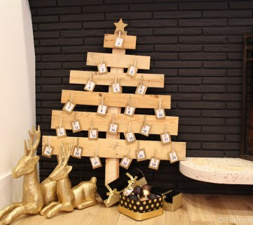 DIY Pallet Wood Christmas Tree Advent Calendar; Day 11