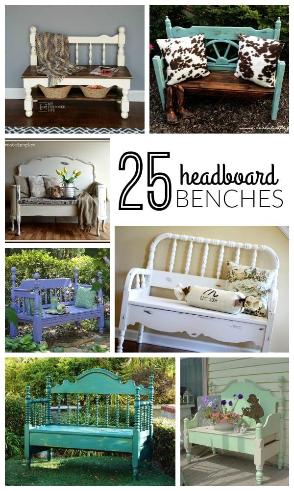 25 DIY Headboard Benches + How To Build a Headboard Bench