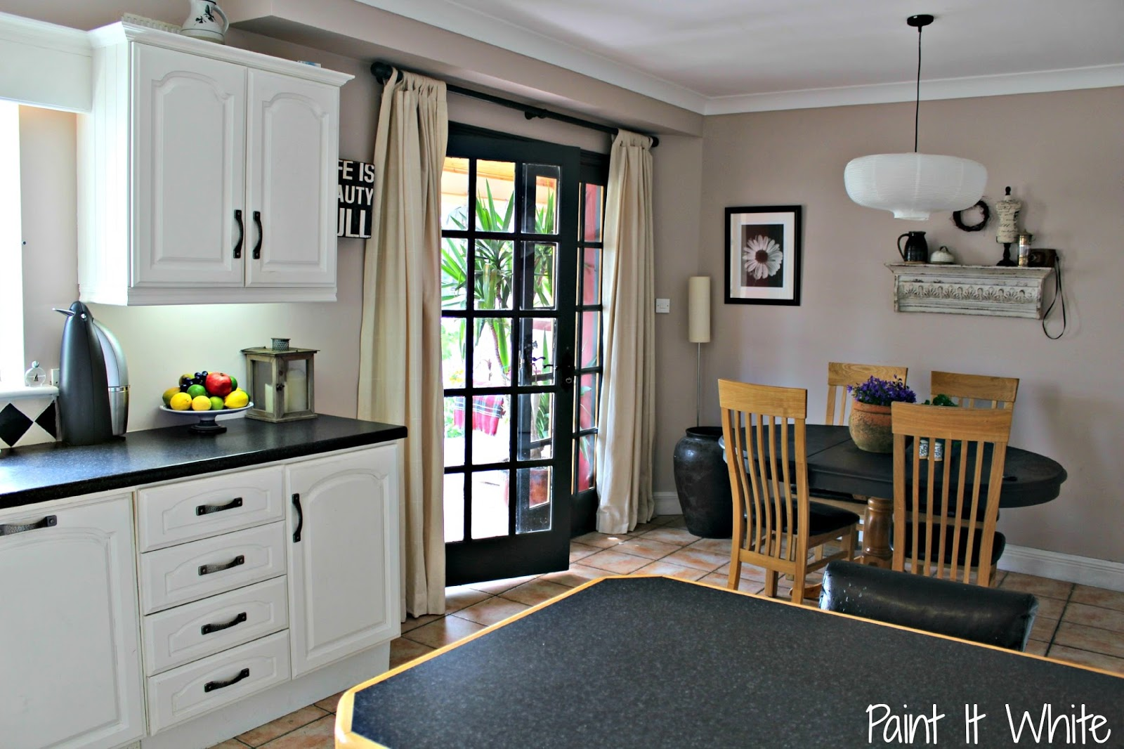 6 annie sloan chalk paint in old white for kitchen cabinet makeover provence with dark remodelaholic   beautiful white kitchen update  with chalk paint    rh   remodelaholic com