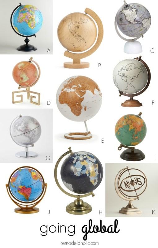 Beautiful Decorative Globes @Remodelaholic