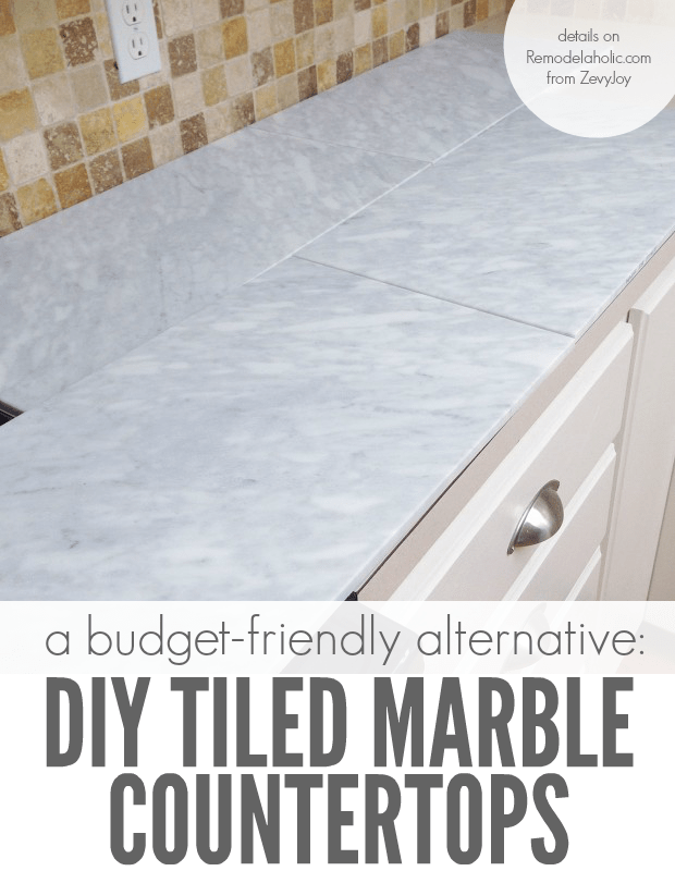 Self Installed Tile Marble Countertops Are A Cheaper Alternative To Slab  Marble Counters