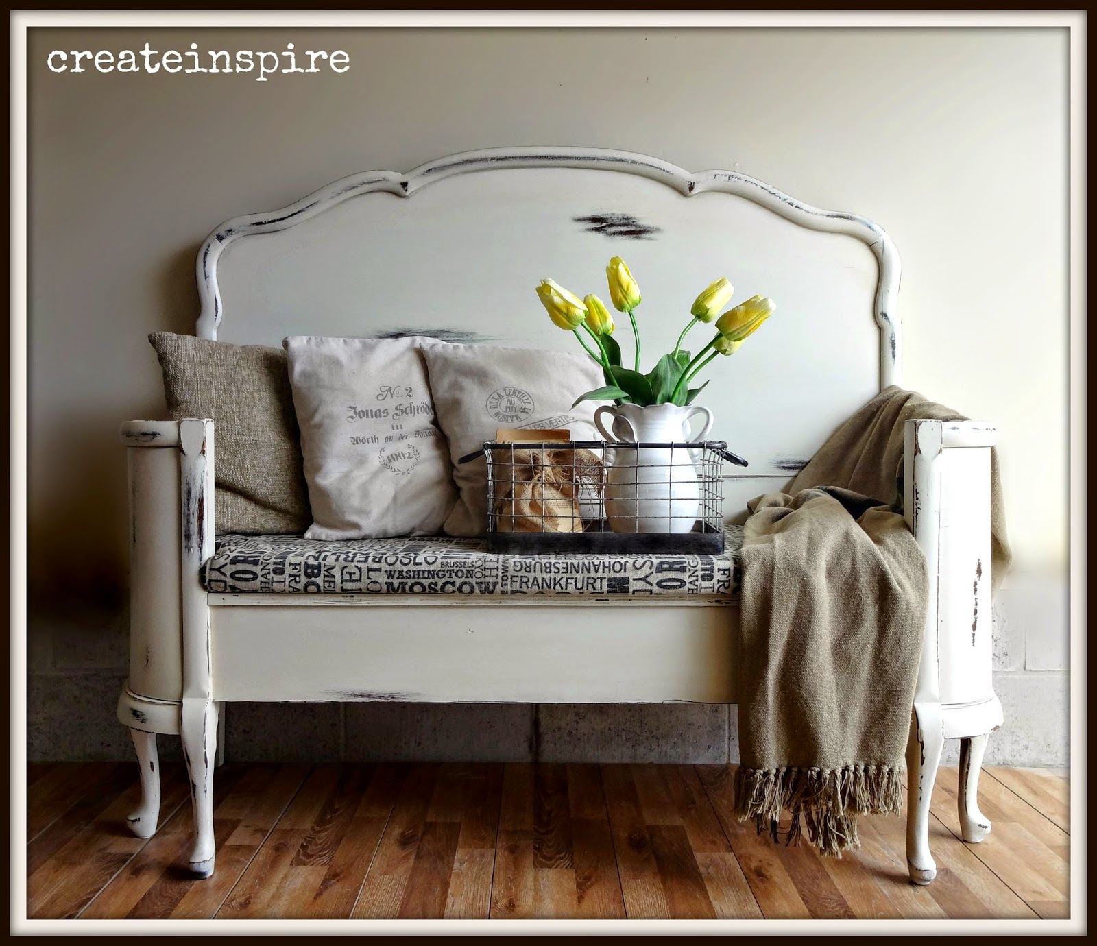 Remodelaholic 25 Headboard Benches How To Make Your Own