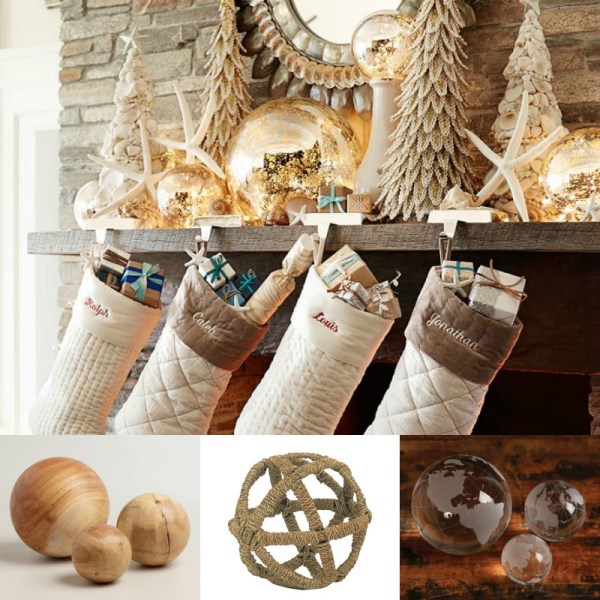 Use decorative balls for texture @Remodelaholic
