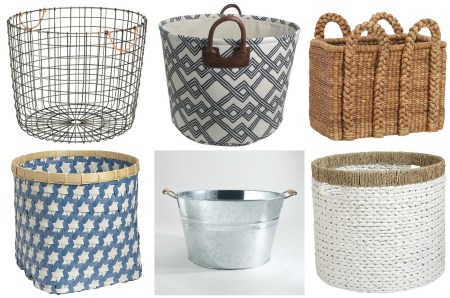 Love these baskets! Sources on Remodelaholic.com