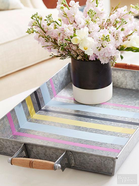 bhg metal coffee table tray