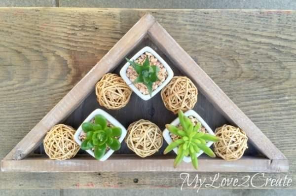 diy decorative triangle tray, Mylove2create