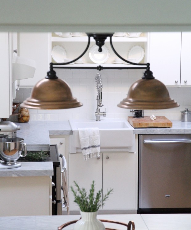 Diy Kitchen Light Fixtures Part 2: Kitchen Mini-Makeover With Affordable