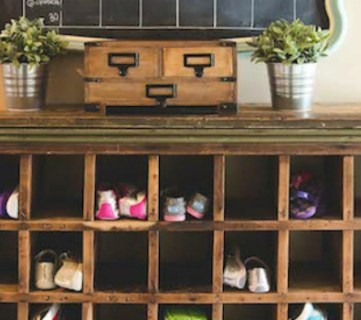Build a Vintage Mail Sorter Shoe Cubby