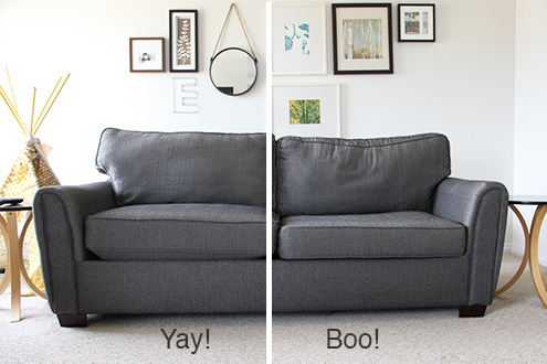 A new sofa is expensive! It can be hard to justify a new sofa purchase, especially if your old one is still comfortable and functional. Instead of buying a new one try one of these 28 ways to bring new life into an old sofa via remodelaholic.com #sofa #slipcovers #reupholster #couches #sofas