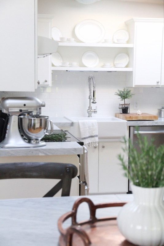 white kitchen makeover