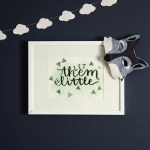Let Them Be Little! Hand Lettered Art with Silver Foil