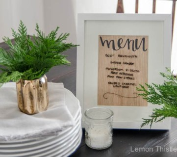 DIY Wood Veneer whiteboard Menu Planner