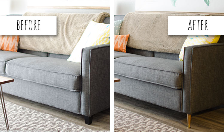 how to reupholster sofa arms classic tufted remodelaholic   28 ways bring new life an old