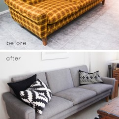 Sofa Reupholstering Small Sectional Bed Canada Remodelaholic | 28 Ways To Bring New Life An Old